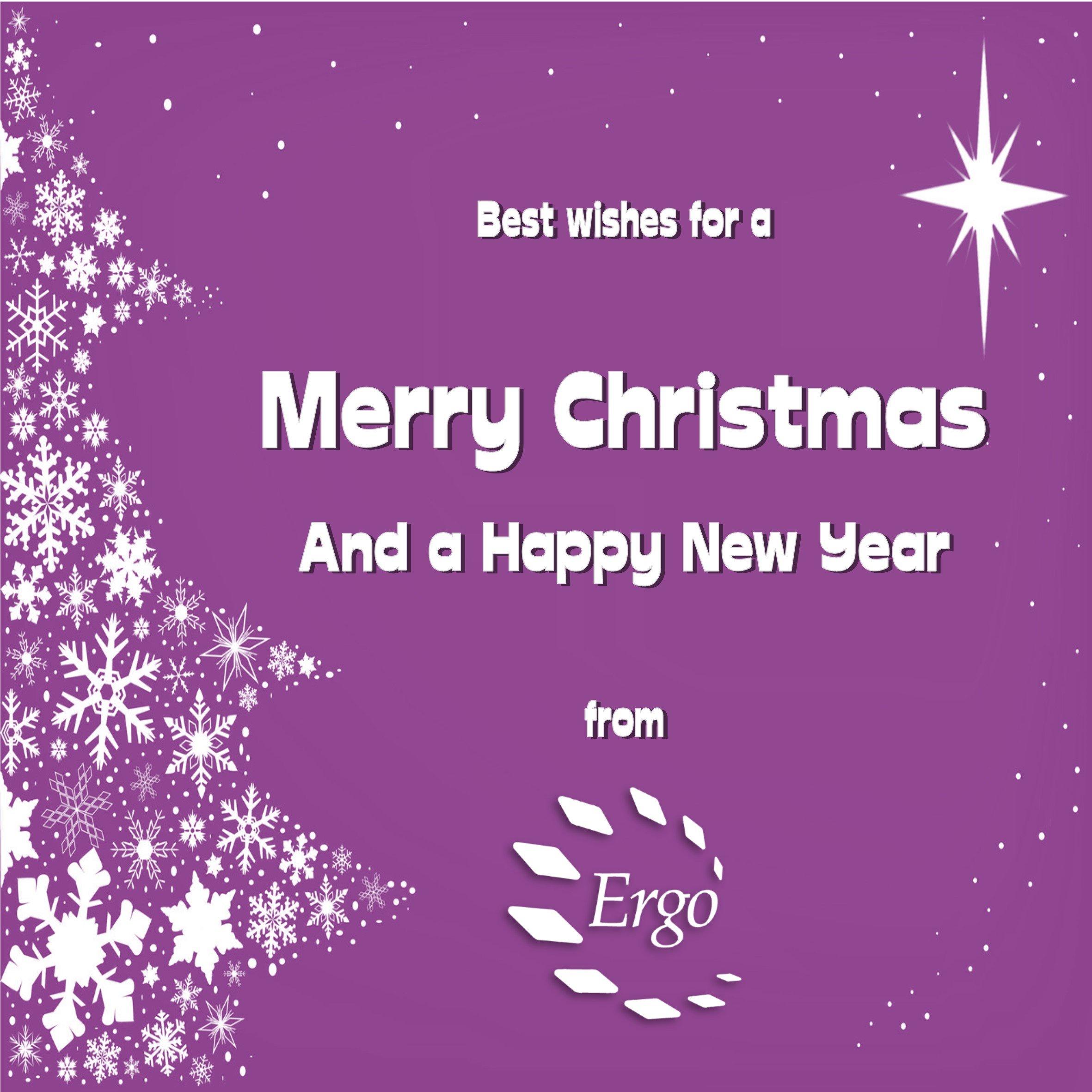 Merry Christmas purple