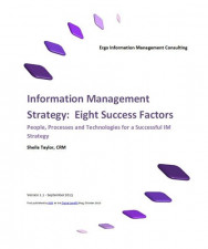 Information Management Strategy – Eight Success Factors